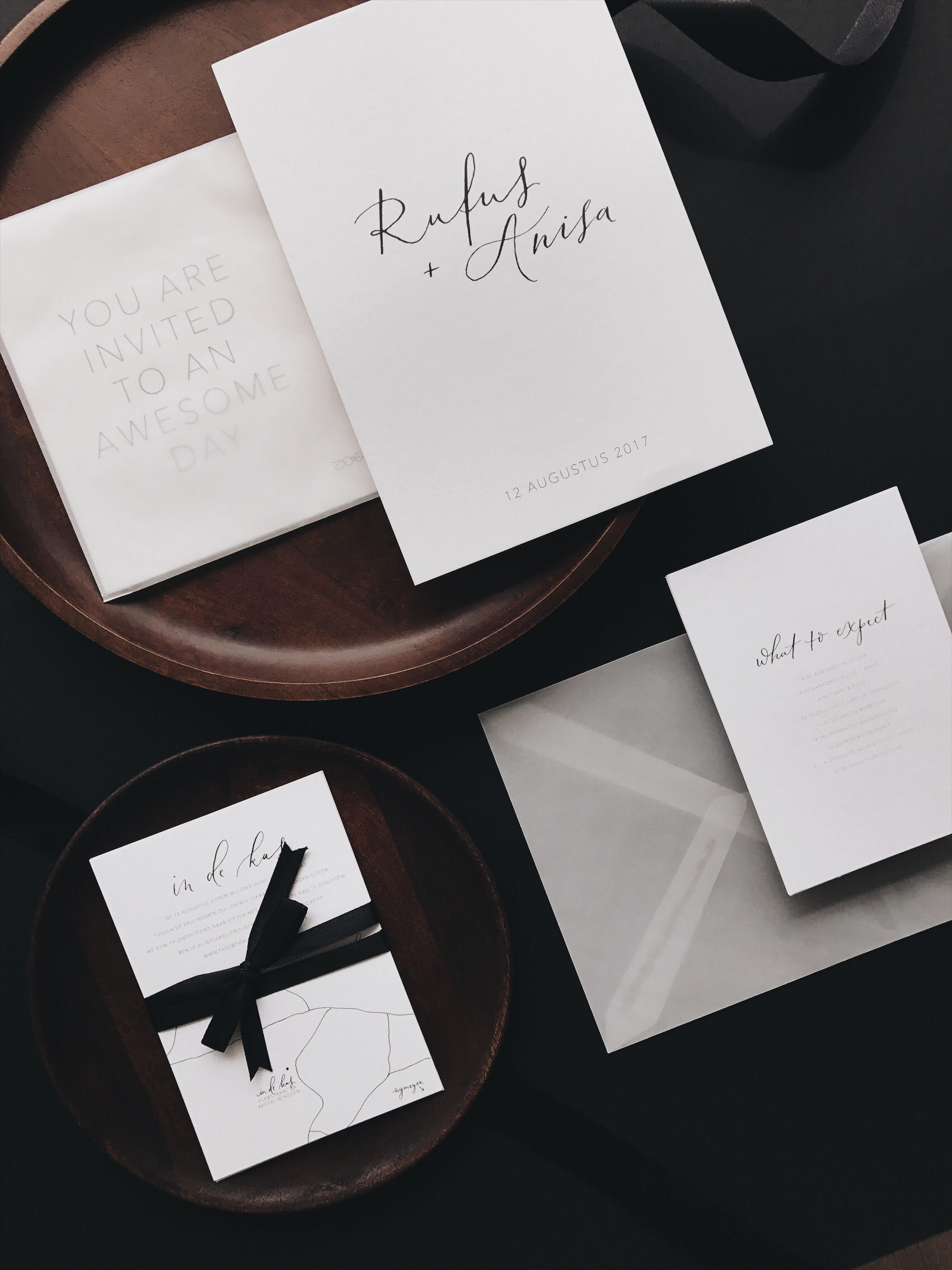 weddingstationery Rufus+Anisa minimalistisch